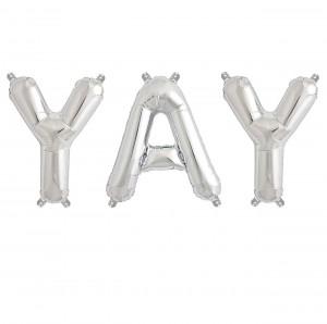 Yay-Ballon-silber